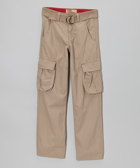 Tan Ripstop Cargo Pants - Boys