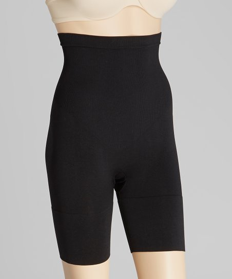 Black Seamless High-Waist Shaper Shorts