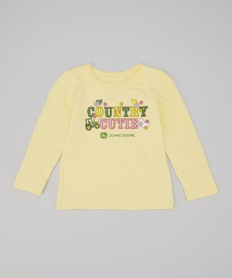 Yellow 'Country Cutie' Tee - Toddler