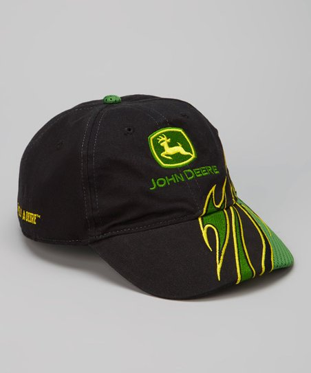 Black & Green Flame Baseball Cap