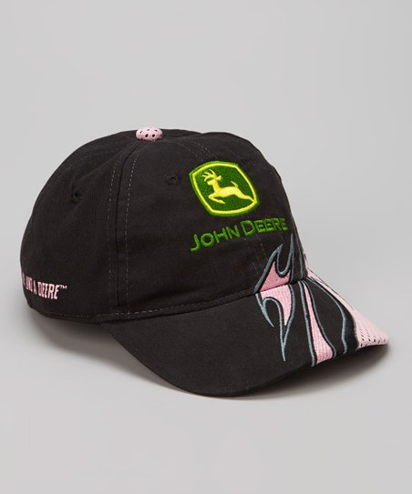 Black & Pink Flame Baseball Cap