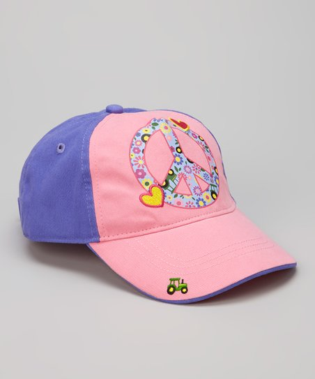 Purple Peace & Tractor Baseball Cap
