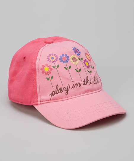 Fuschia Flowers Baseball Cap