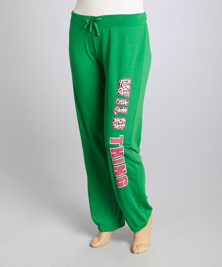 Green 'Wild Thing' Lounge Pants - Plus