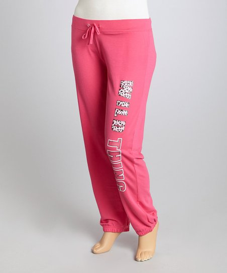 Pink 'Wild Thing' Lounge Pants - Plus