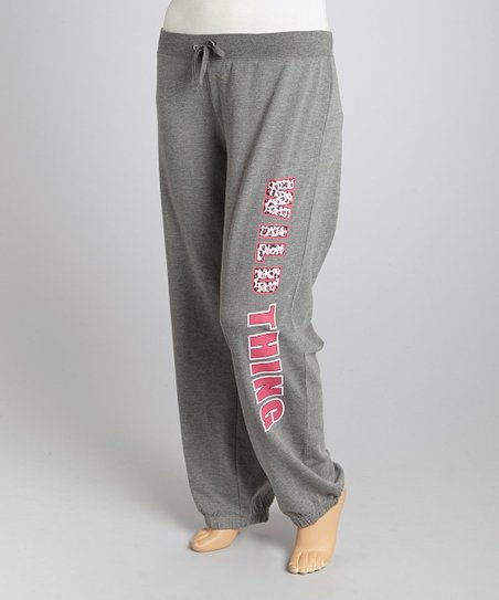 Light Gray 'Wild Thing' Lounge Pants - Plus