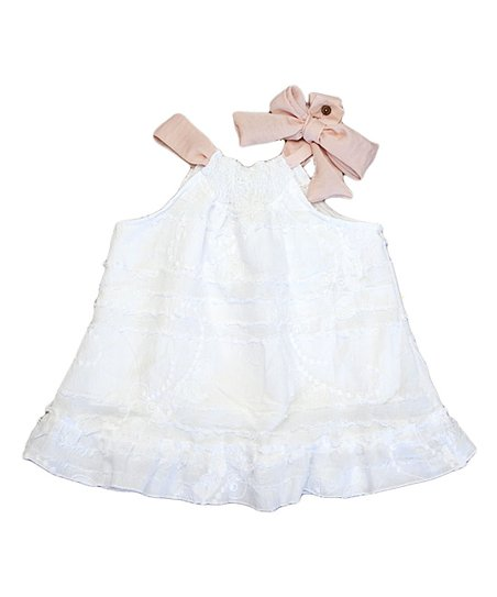 White & Blush Wonderland Swing Top - Toddler & Girls