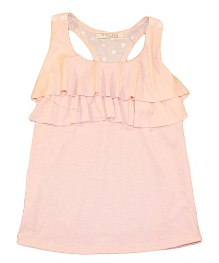 Blush Ruffle Racerback Tank - Toddler & Girls