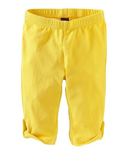 Lemon Side-Tab Capri Leggings - Girls