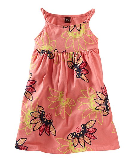 Pink Tulip Tidepool Twist Dress - Infant & Girls