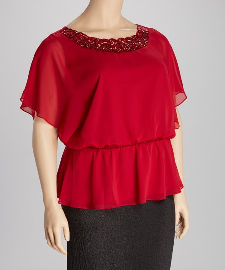 Wildflower Embellished Top - Plus