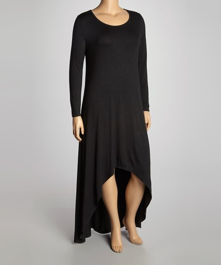 Black Hi-Low Maxi Dress - Plus