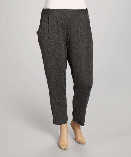 Charcoal Pocket Harem Pants - Plus
