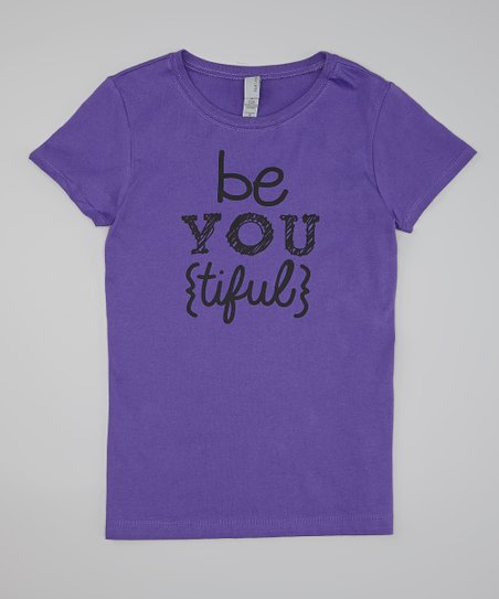 Purple 'Be You {Tiful}' Tee - Girls