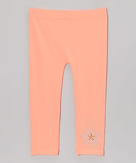 Melon Rhinestone Star Leggings