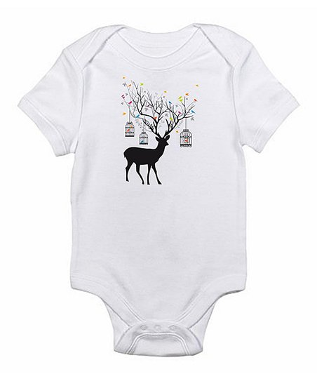 White Deer Bodysuit - Infant