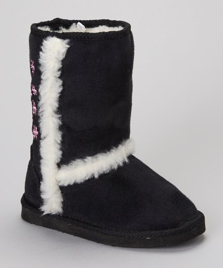 Black Snowflake Boot