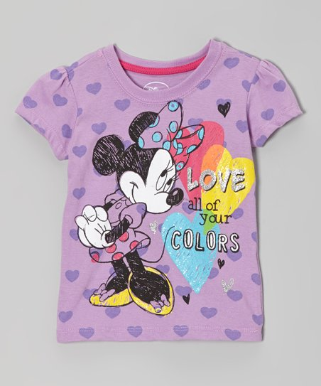 Purple 'Love All Your Colors' Tee - Toddler