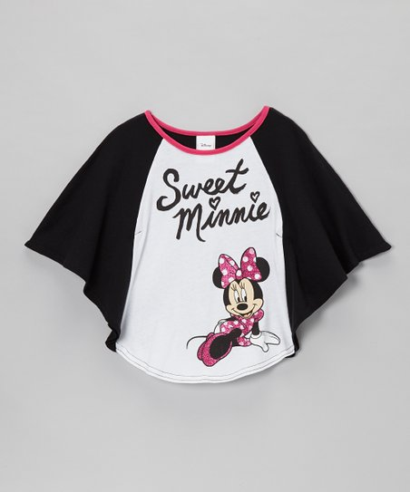 White 'Sweet Minnie' Dolman Top - Girls