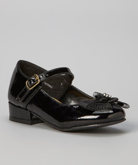 Black Patent Lota Mary Jane - Girls