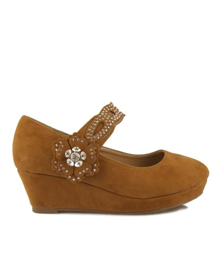 Tan Erika Wedge Mary Jane