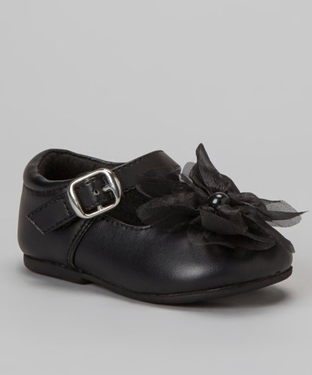 Black Wawa T-Strap Shoe - Girls