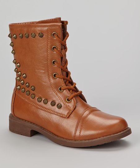 Tan Studded Andrea Boot