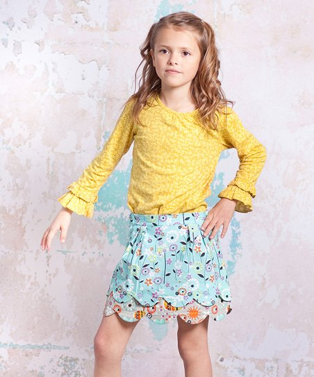 Yellow & Blue Bees Lindsay Top & Skirt - Infant, Toddler & Girls