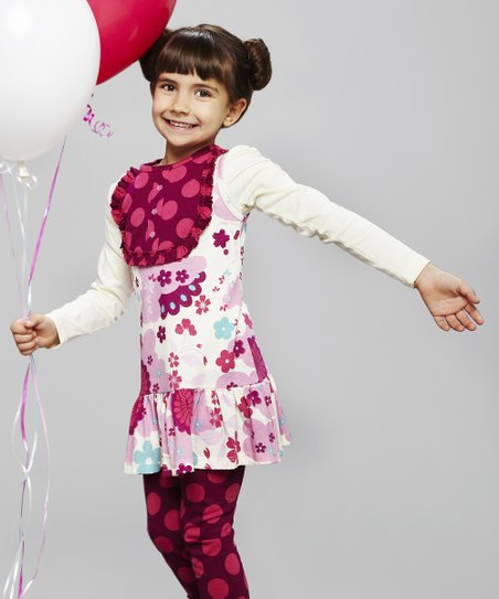 Pink Floral Jumper - Toddler & Girls