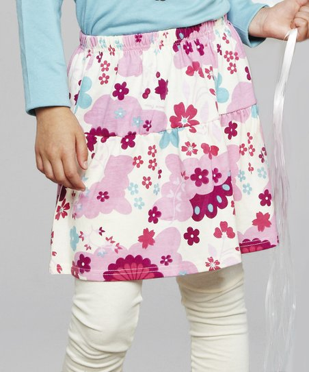Pink Floral Skirt - Toddler & Girls