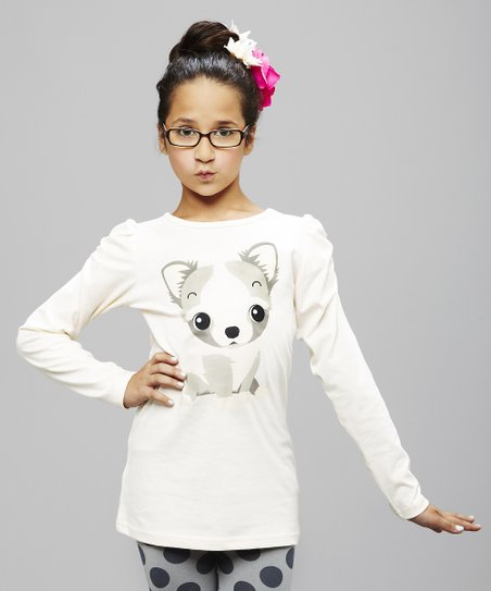 Cream Chihuahua Tee - Toddler & Girls