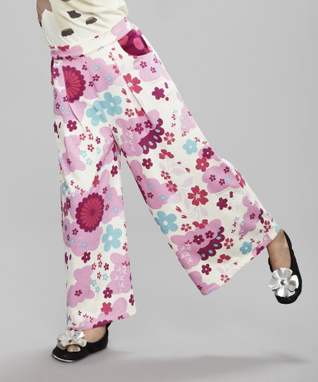 Pink Floral Pants - Toddler & Girls