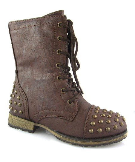 Brown Studded Megan Boot