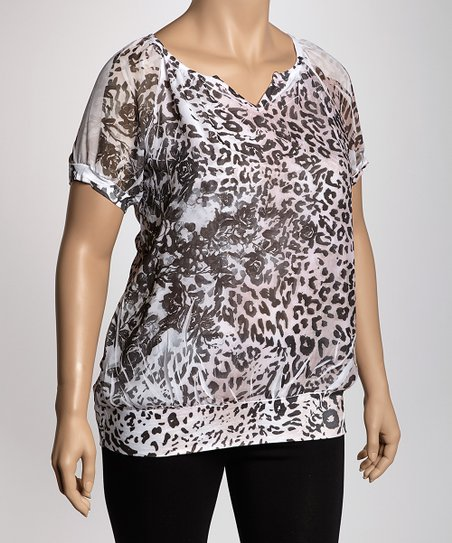 Pink & Black Leopard Sublimation Top - Plus
