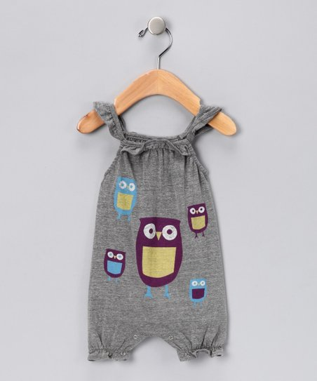 Gray Paper Owl Romper - Infant 