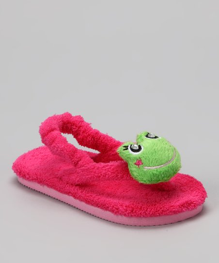 Pink Fancy Frog Sandal - Kids