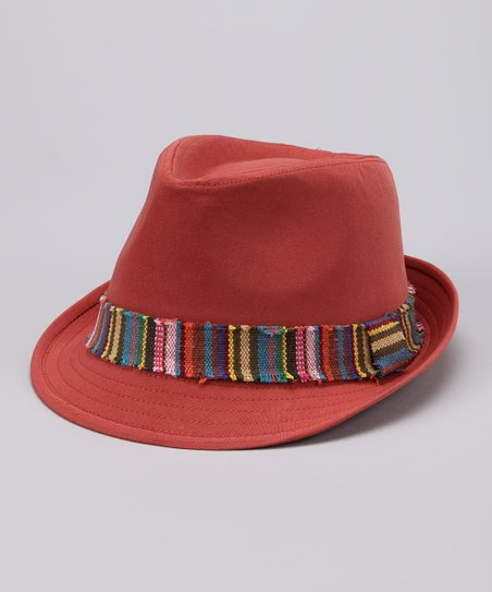 Orange Stripe Band Fedora