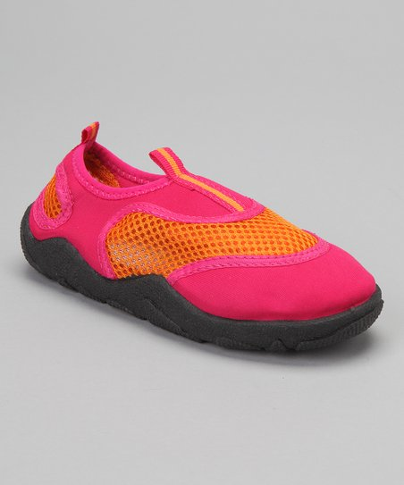 Orange & Pink Water Shoe - Girls