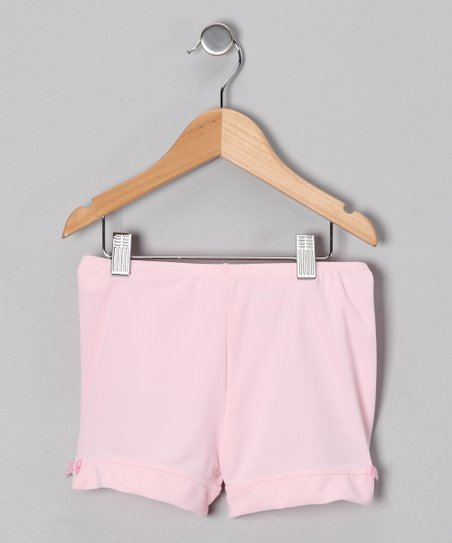 Light Pink Bow Shorts - Toddler
