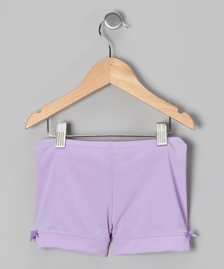 Light Purple Bow Shorts - Toddler