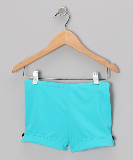 Turquoise Bow Shorts - Toddler