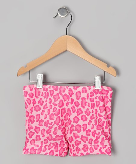 Pink Leopard Shorts -Toddler