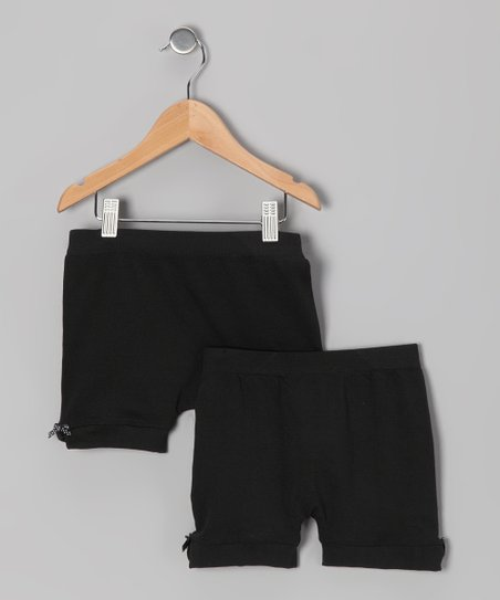 Black Bow Shorts Set - Toddler & Girls