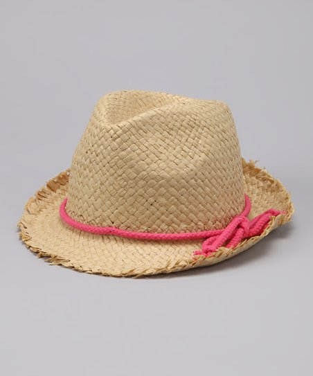 Pink Band Woven Fedora