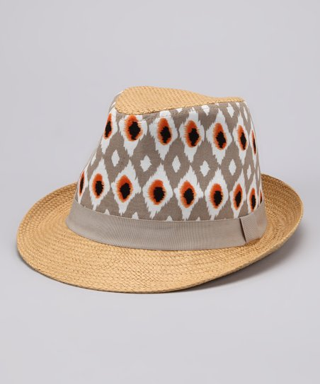 Light Brown Tribal Fedora