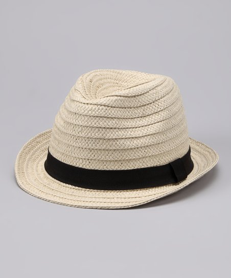 Natural Braid Fedora