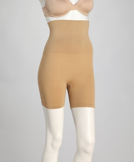 Nude Medium Support High-Waisted Shaper Shorts
