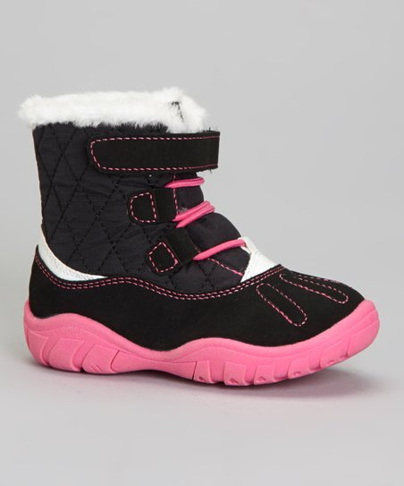 Black & Pink Branch Boot