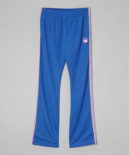 Blue Mesh Track Pants - Girls