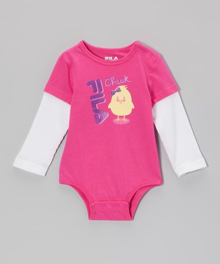 Pink Glow 'Chick' Layered Bodysuit